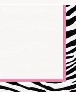 Zebra Passion Pink Party Paper Napkins