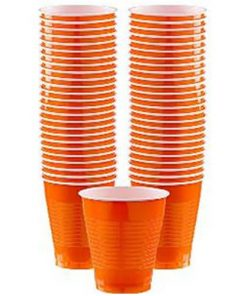 Orange Party Plastic Cups
