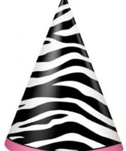 Zebra Passion Pink Party Hats