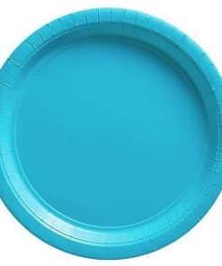 Bulk Turquoise Paper Plates