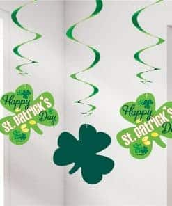 Shamrock Hanging Swirls