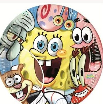 Spongebob Square Pants Party Paper Plates
