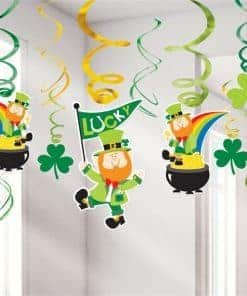 St Patrick's Day Hanging Swirl Decoration