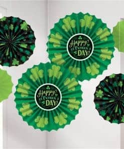 St Patricks Day Paper Fans
