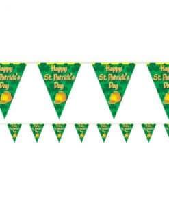 St Patrick's Day Plastic Flag Banner