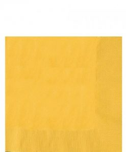 Yellow Party Paper Luncheon Napkins