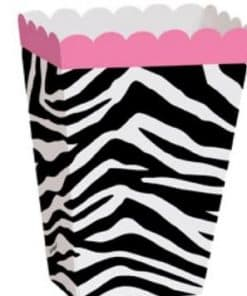 Zebra Passion Pink Party Treat Boxes
