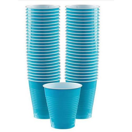 Turquoise Party Plastic Cups