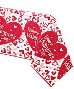 Valentines Be Mine Heart Plastic Tablecover
