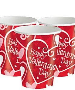 Valentines Be Mine Paper Cups