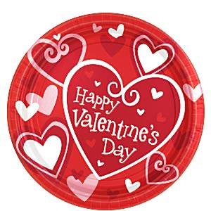 Valentines Be Mine Paper Party Plates