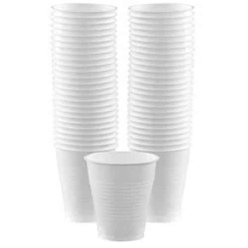 White Plastic Party Cups