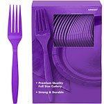Purple plastic forks