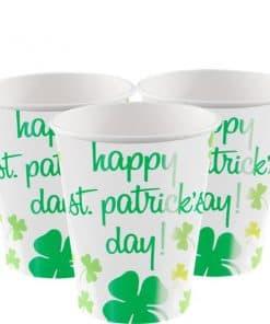 Rainbow Shamrock Paper Cups