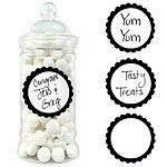 Buy Black Sweet Jar Labels