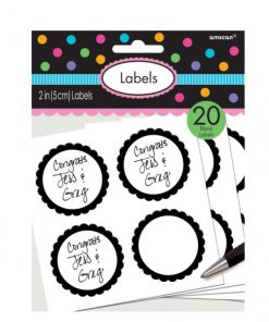 Black Party Candy Labels