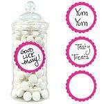 Buy Bright Pink Sweet Jar Labels