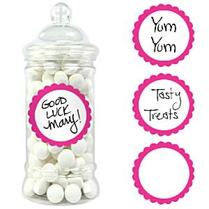 Bright Pink Candy Labels