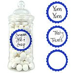 Buy Bright Blue Sweet Jar Labels