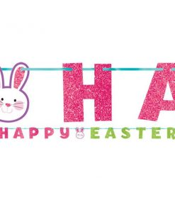Glitter 'Happy Easter' Letter Banner