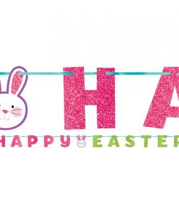 Glitter 'Happy Easter' Letter Banner
