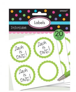 Lime Green Party Candy Labels