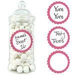Buy Pink Sweet Jar Labels