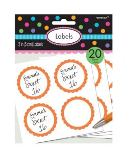 Orange Party Labels
