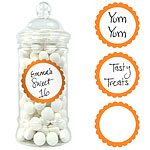 Buy Orange Sweet Jar Labels