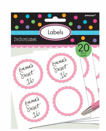 Pink Party Candy Labels