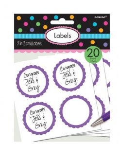 Purple Party Candy Labels