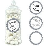 Buy Silver Sweet Jar Labels