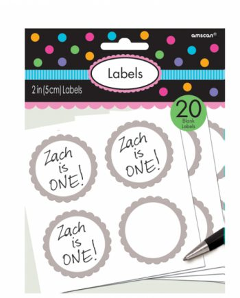 Silver Party Labels