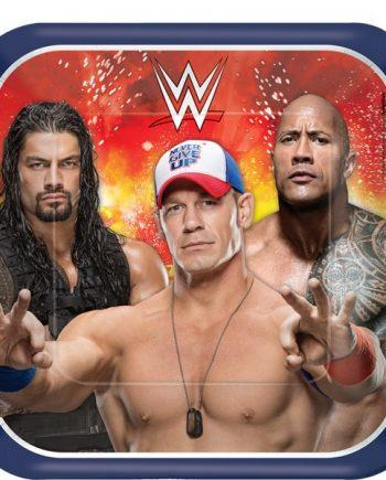 WWE Wrestling Square Plates