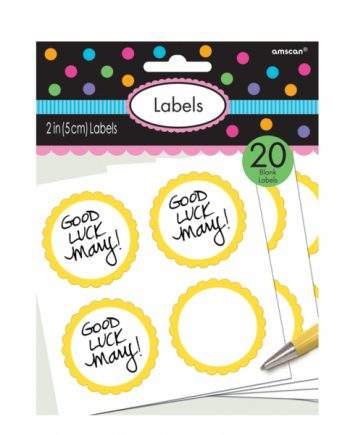 Yellow Party Labels