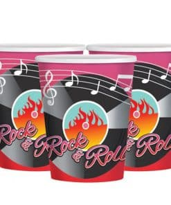 Rock n Roll 50s Classic Paper Cups