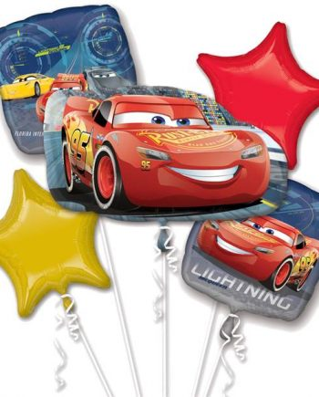 Disney Cars Party Lightning McQueen Balloon Bouquet