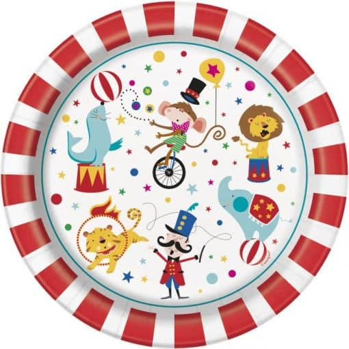 Circus Carnival Party Paper Plates