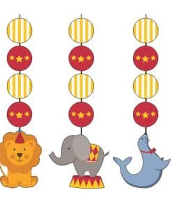 Circus Time Hanging Decoration Cutouts
