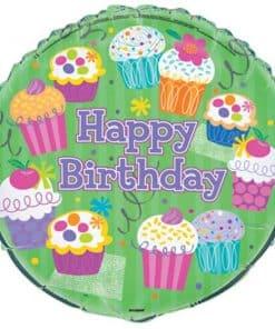 Cupcake Party Foil Balloon