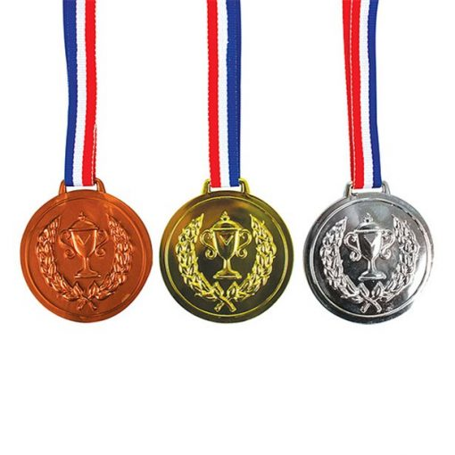 Gold, Silver & Bronze Plastic Medals