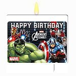 Avengers Party Birthday Cake Candle