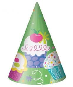 Cupcake Party Cone Hats