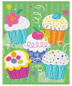 Cupcake Party Plastic Loot Bags