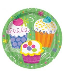 Cupcake Party Paper Plates