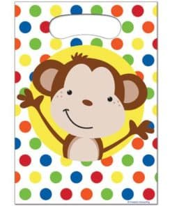 Fun Monkey Party Plastic Loot Bags