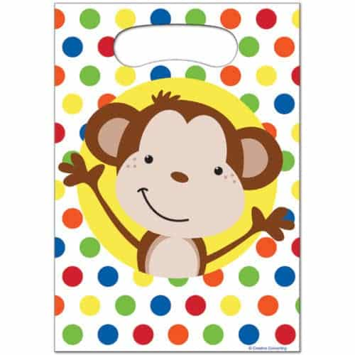 Fun Monkey Party Plastic Loot Bags
