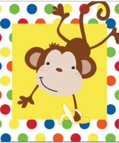 Fun Monkey Party Paper Lunch Napkins