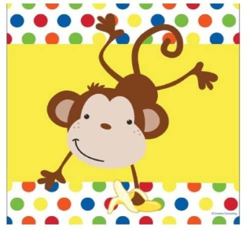 Fun Monkey Party Plastic Tablecover