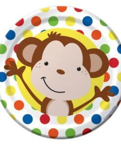 Fun Monkey Party Paper Plates